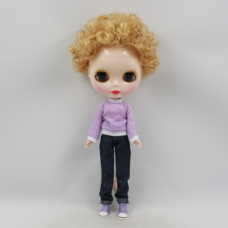 Blyth Nude Doll For Series No.230BL9031 Golden Hair