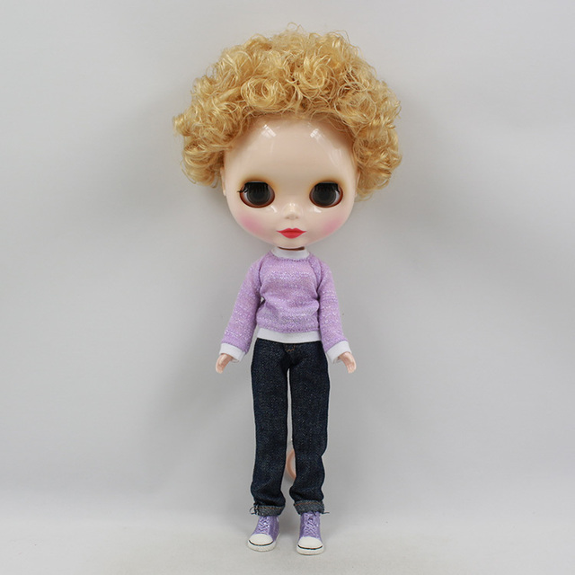 ICY Neo Blythe Doll Short Golden Hair Jointed Body