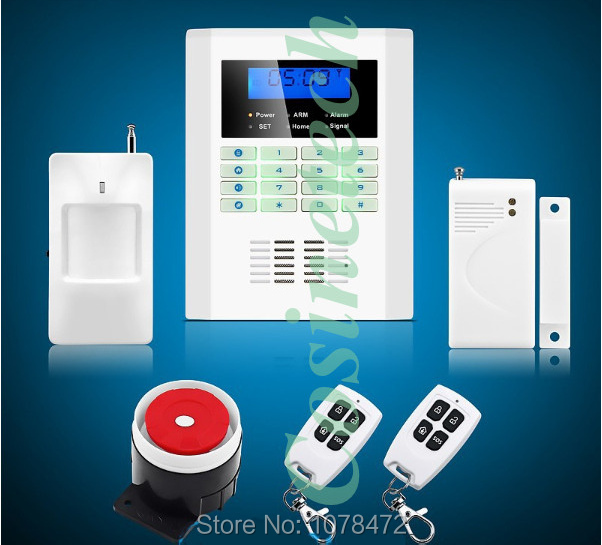 Safety Guard security 101 defense zones dual-network GSM PSTN alarm system,Drop shipping home alarm system free shipping quad band 101 zones dual network pstn