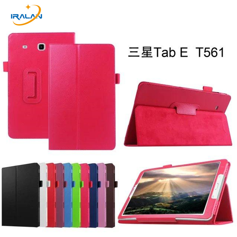 Fashion Litchi PU Leather stand Case Cover For Samsung Galaxy Tab E 9.6 T560 T561 Tablet PC Flip Protective skin shell+film+pen tablet case for samsung galaxy tab a 10 1 p585 flip leather case cover slim protective stand shell case for samsung sm p585 skin