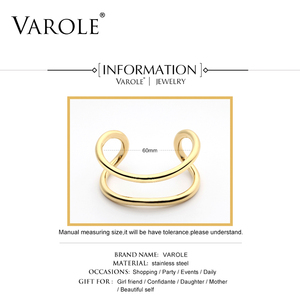 Image 4 - VAROLE New Style Gold Color Cuff Bracelets & Bangles Women High Quality Stainless Steel Bracelet Love Bangle Jewelry