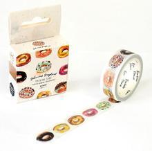 Пончик клейкой васи вкусный школьный скрапбукинг papelaria эсколар декоративные лента ленты
