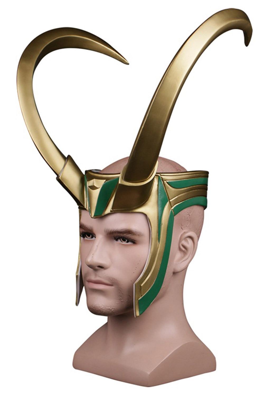 Thor 3 Ragnarok Loki Mask Laufeyson PVC Cosplay Mask Helmet Halloween Prop