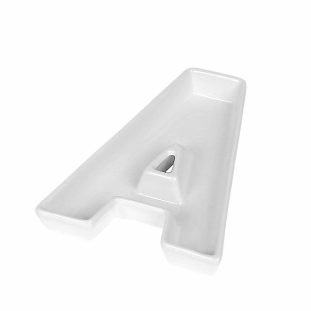 Letter Shaped Ceramic Plate