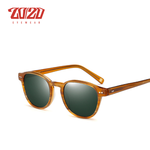 Image 4 - Classic Polarized Men Sunglasses Women Brand Designer Acetate Round Sun Glasses Driving Shades Unisex Eyewear Oculos AT8001