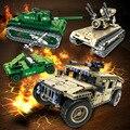 Função de potência inteligente blocos de construção blocos de construção do tanque montado carro de controle remoto com lepin decool