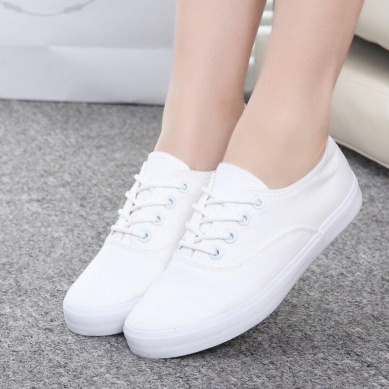 White canvas shoes Female Korean