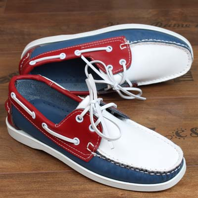 Spring Summer Men's Retro Style Handmade Leather Casaul Shoes Flat Lace Up Couple Driver's Loafers Boat Shoes B 35-46