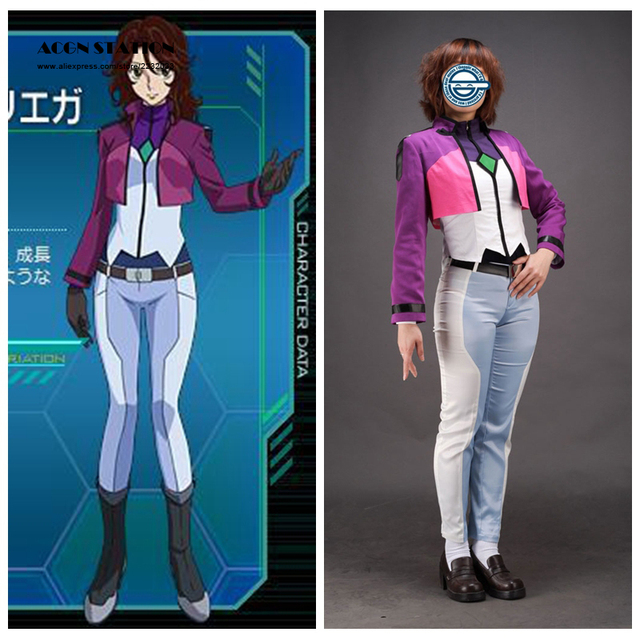 2018 Top Selling Mobile Suit Gundam Anime Lisa Ann Beley Cosplay Costume Anime Female Costume For