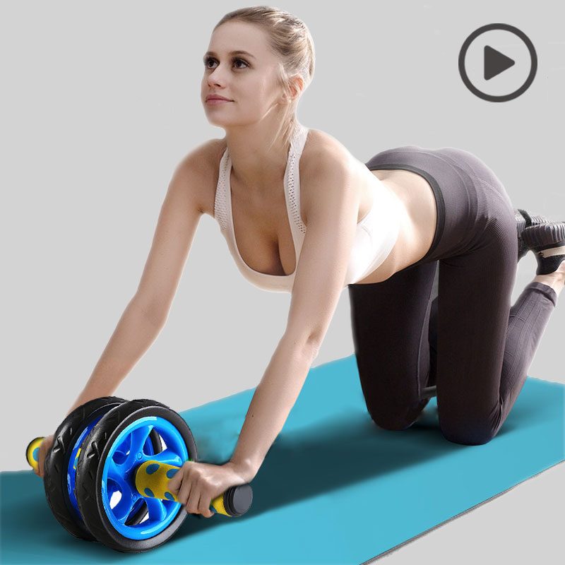 Sport Pioneer No Noise Abdominal Wheel Muscle Trainer Gymnastic Ab Roller With Mat Press for Exercise Fitness Machine Workout ...
