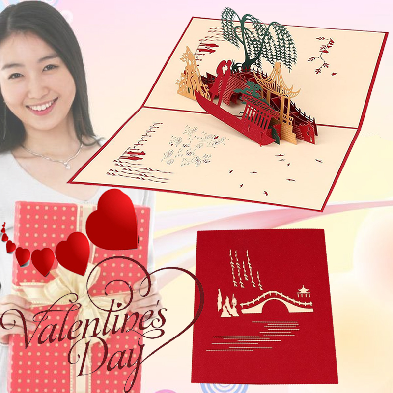 3d Birthday Anniversary Party Valentine Greeting Cards Creative New