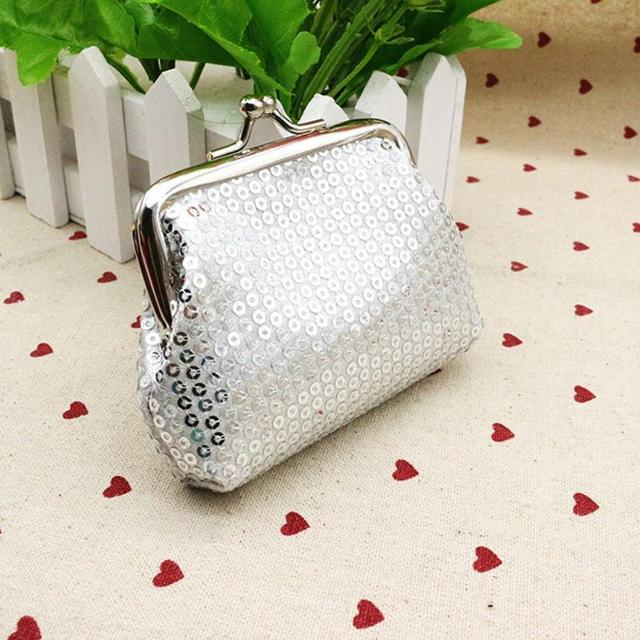 65d476994141 Women Mini Purse Sequin Wallet Card Holder Coin Purse Clutch Handbag  Monederos Mujer Monedas