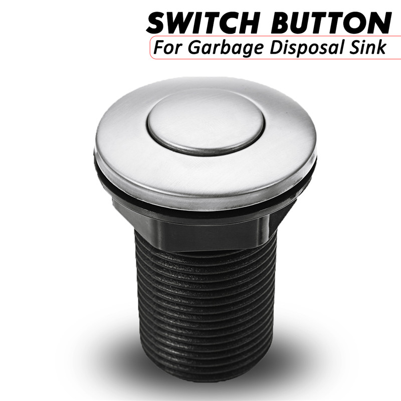 1Pcs 32mm / 1.26inch Pool Pump Pneumatic Air Button Switch For Garbage Disposal Sink Top Air Actived Switch