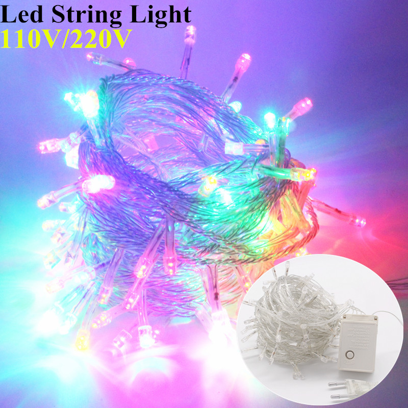 Led Garland String Lights : Lighting Strings Garland AC220V110V 10M100 led 20M30M50MChristmas Holiday Wedding Party ...