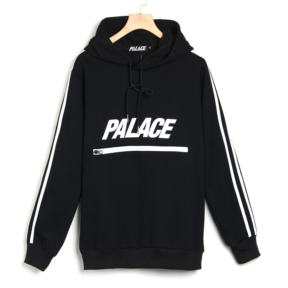 Fashion-Striped-PALACE-Printed-Sweatsuit-Hip-Hop-Mens-Hoodie-Men-Pullover-Polo-Hoodies-Sudaderas-Black-long