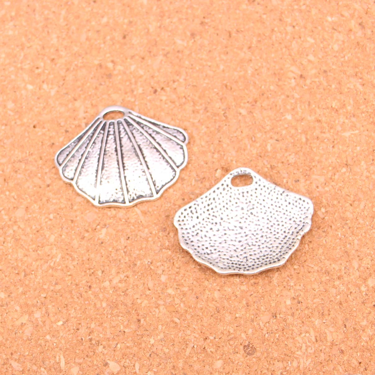 10pcs Tibetan Silver shell Charms for Jewelry Making 25*30mm