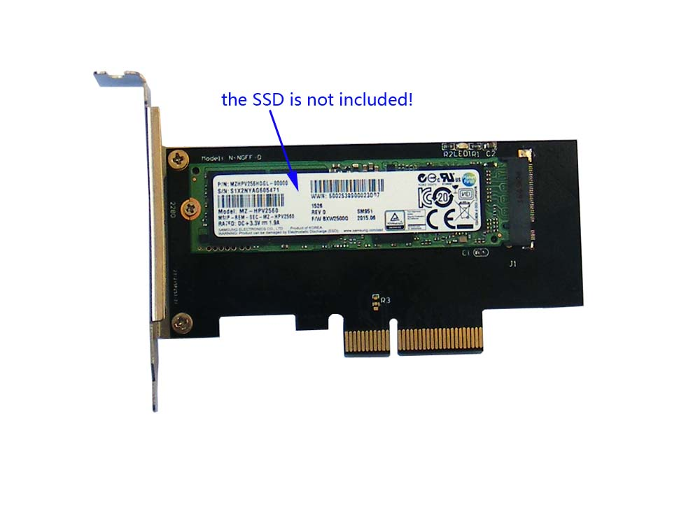 NVMe PCIe M.2 NGFF SSD to PCIe x1 adapter card PCIe x1 to M.2 card with braR  P