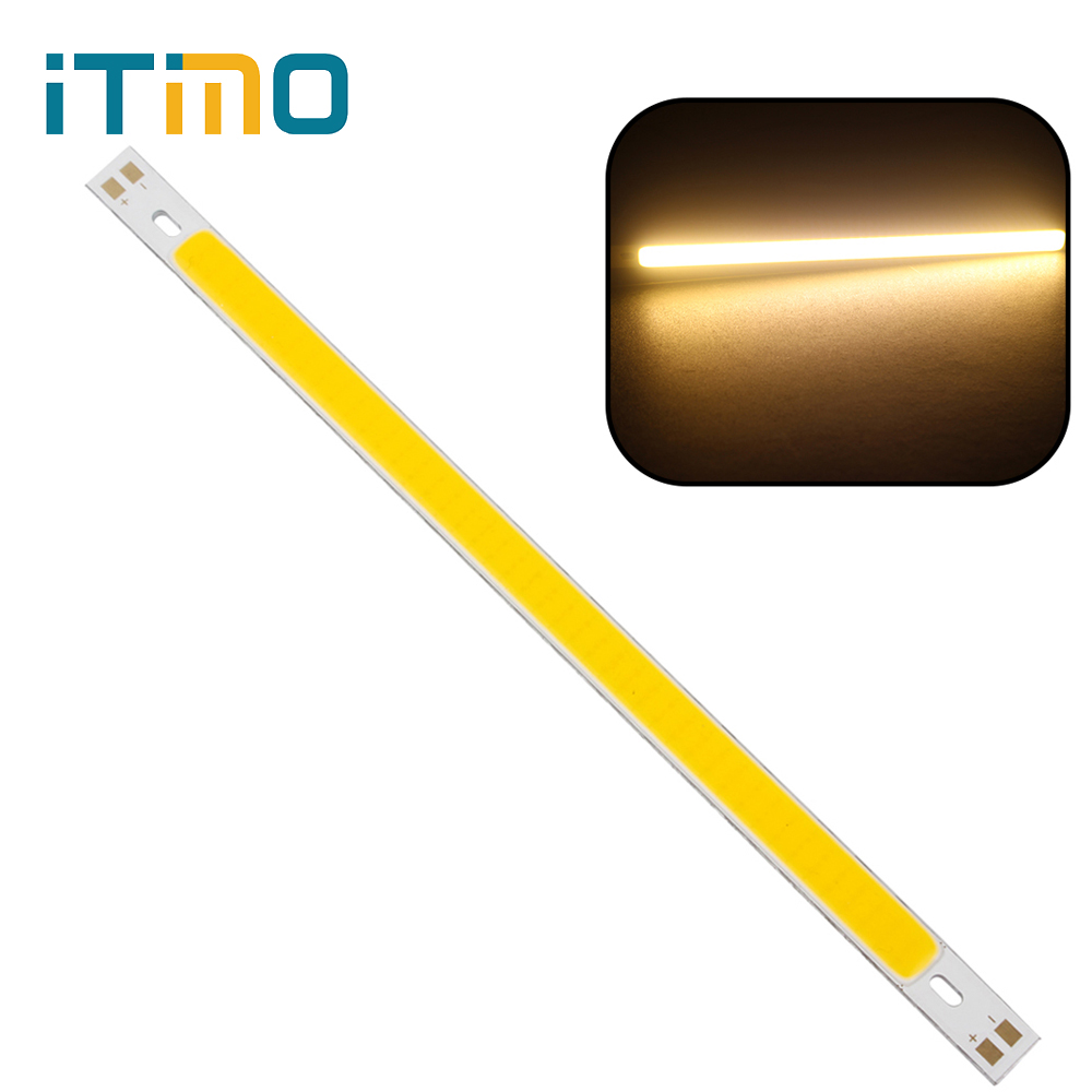 200 x 10MM 10W 1000LM For DIY High Quality 12V - 14V COB Warm White Pure White LED Strip Light Lamps Bulb Super Bright #KF 120mmx36mm warm white pure white cob led strip lamp lights bulb 10w 1000lm super bright 12v 24v for diy high quality