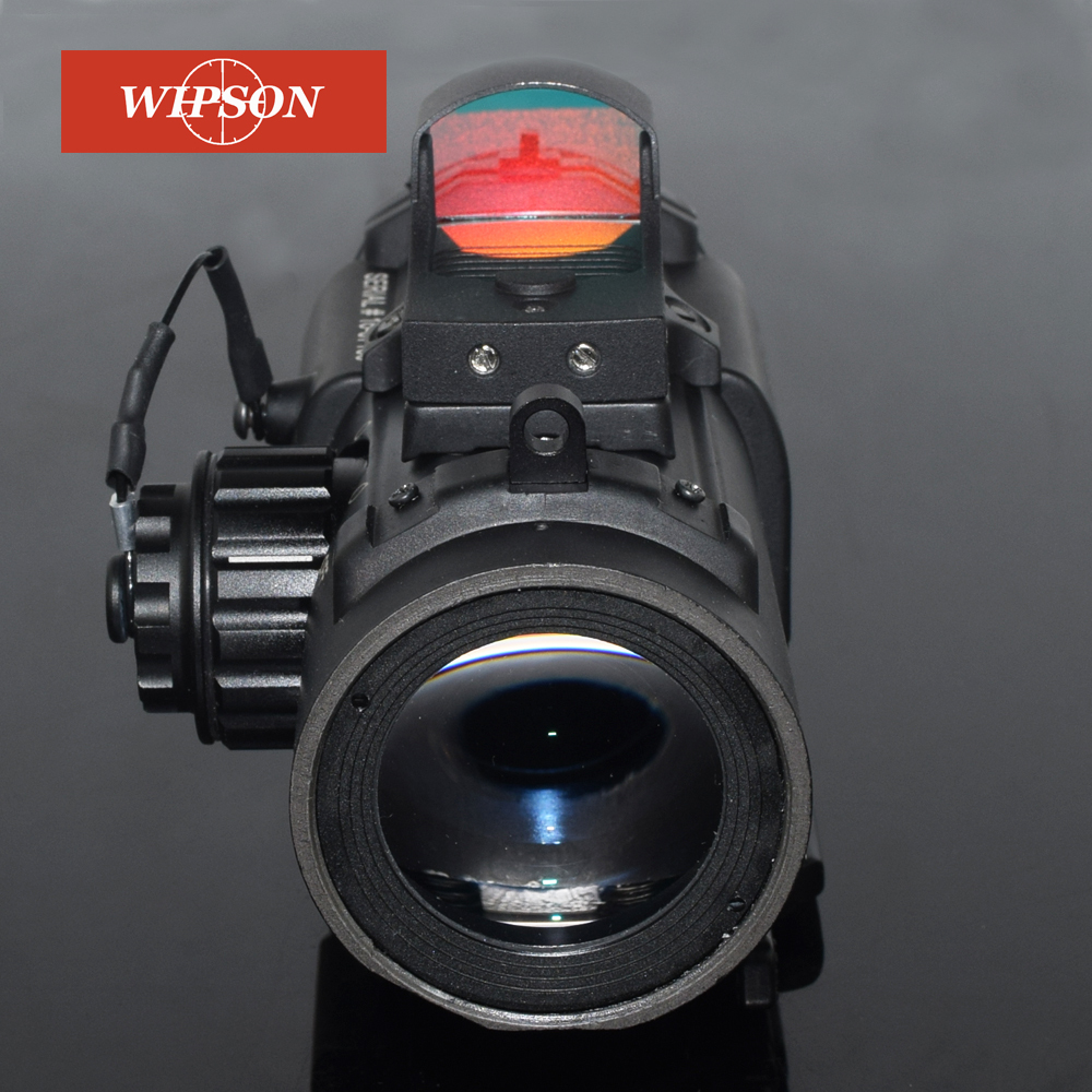 WIPSON 4x Dual Role Optic Sight Scope magnification magnificate Scope For Hunting scope with mini red dot tactical rifle scope dr quick detachable 1x 4x adjustable dual role sight airsoft scope magnificate scope for hunting