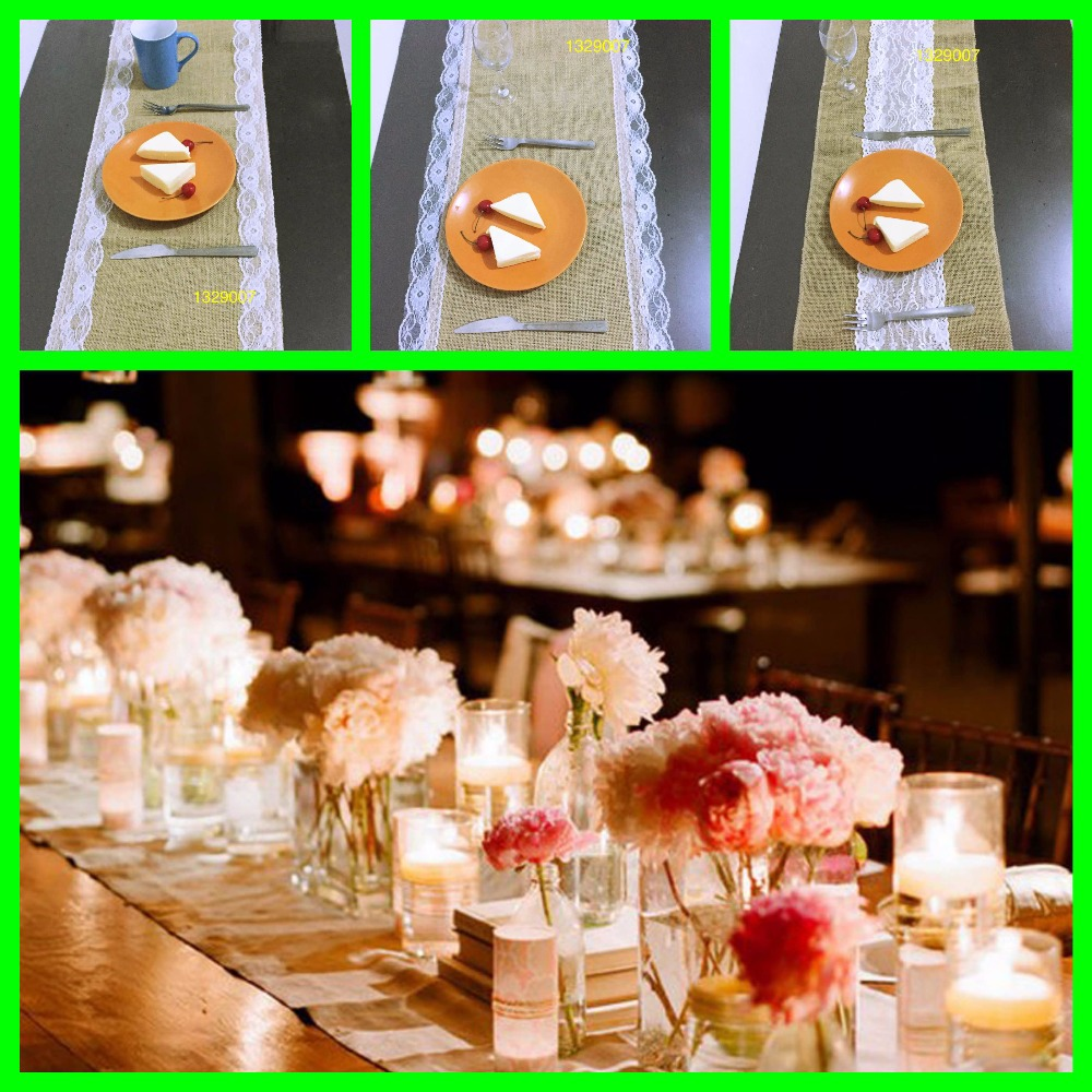 30 275cm burlap table runner wedding wedding decoration for Home interior parties products