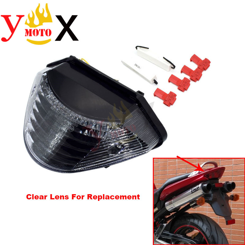 Motorcycle Hornet 600/900 Tail Brake Running Light Turn Signal Indicator Integrated LED For Honda CB600 CB600F CB900 2002-2007Motorcycle Hornet 600/900 Tail Brake Running Light Turn Signal Indicator Integrated LED For Honda CB600 CB600F CB900 2002-2007