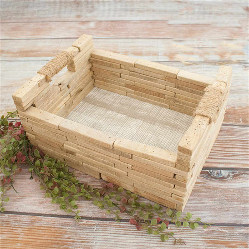 Новорожденный реквизит для фотосъемки ребенок твердой древесины сплайсинга кровать позирует кроватка новый стиль диван младенческой фотосъемки Вспомогательные аксессуары