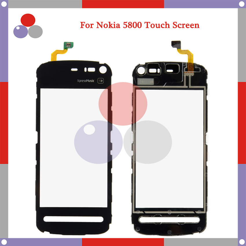 High Quality For Nokia 5800 N5800 Touch Screen Panel Sensor Digitizer Outer Glass Lens