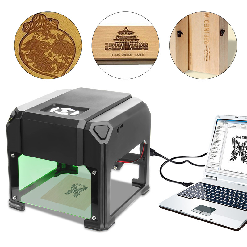 все цены на Engraver Machine 80x80mm Engraving Wood Range 2000mW USB Desktop Laser DIY Logo Mark Printer Cutter CNC Laser Carving Machine онлайн