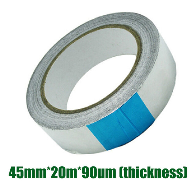 45mm*20m*0.09mm Aluminum Foil Heat Shield Tape Temporary Exhaust Pipe Ducts Repairs Duct Tape High Temp Resistant  sc 1 st  Aliexpress & Online Shop 45mm*20m*0.09mm Aluminum Foil Heat Shield Tape Temporary ...