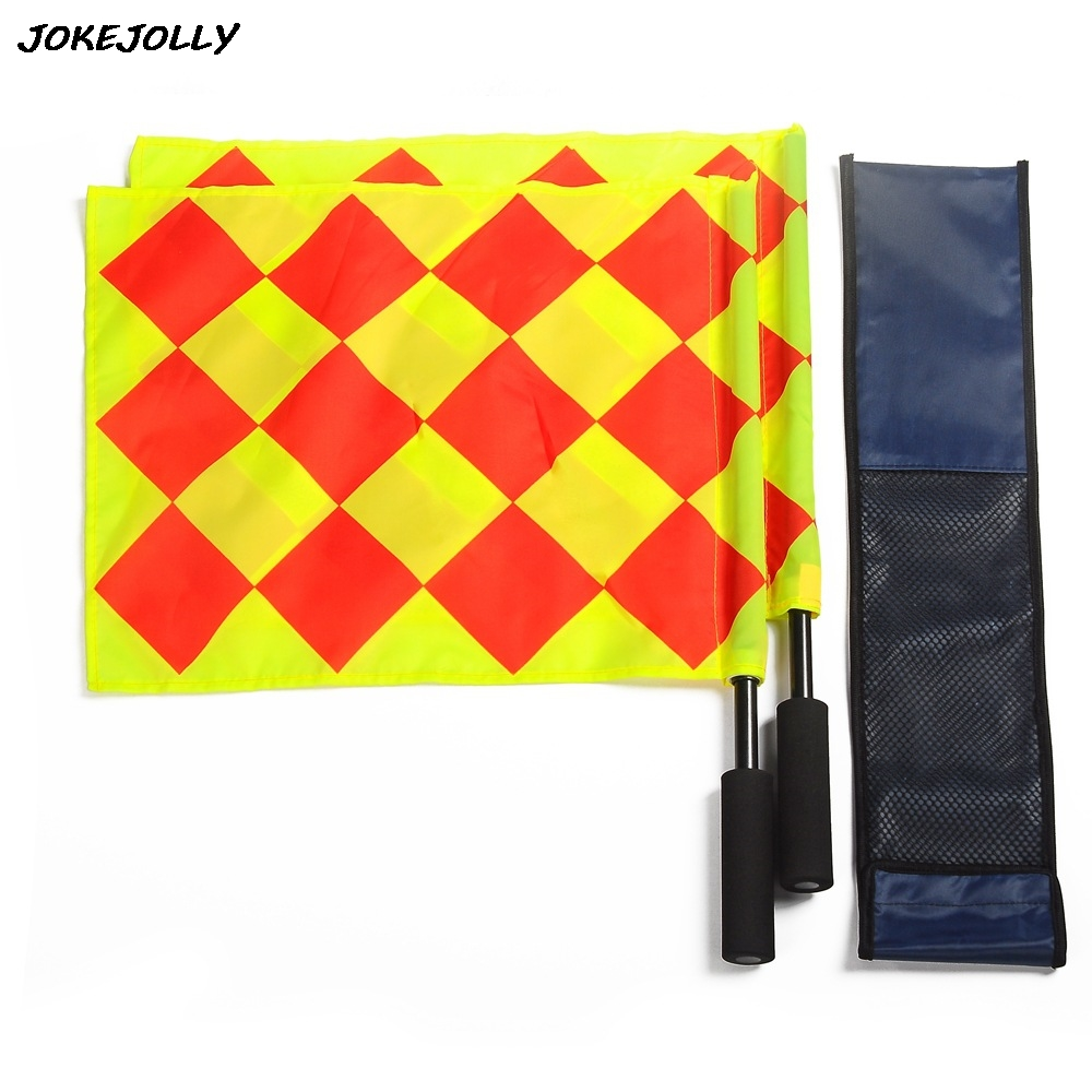 Soccer Referee Flag with Bag Football Judge Sideline Fair Play use Sports Match Football Linesman Flags Referee Equipment GYH maicca quality soccer corner flag football referee flags wholesale 4pcs pack