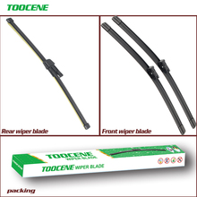 Front And Rear Wiper Blades For Skoda Rapid 2012 -2016 Rubber Windshield Windscreen Auto Car Accessories 24+16+16