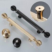 Золотые/черные дверные ручки, роскошные ручки для кухонного шкафа, дверные ручки, прямая ручка для ящика, кри0046