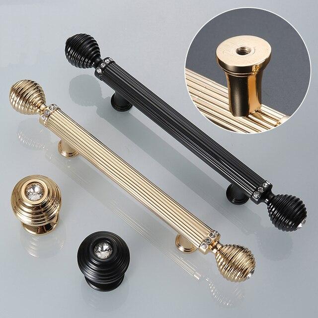 Aliexpress Com Buy Gold Black Door Handles Luxury