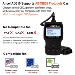Image 2 - Ancel AD310 OBD2 Automotive Scanner OBD 2 Fehler Code Reader Auto diagnosewerkzeug Auto Scanner Freies Update OBD2 Scanner