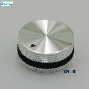 Image 3 - IWISTAO Katı Potansiyometre Topuzu Tüm Alüminyum HIFI Karıştırma Anahtarı Ses Çapı 40mm Yüksek 18mm Gümüş DIY Ücretsiz kargo