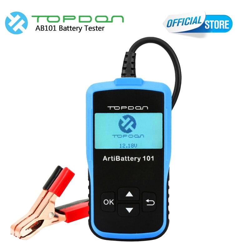 TOPDON Auto Batterie Tester 8-16 VDC ArtiBattery 101 Ankurbeln/Lade Tester Digitale Analyzer Automotive