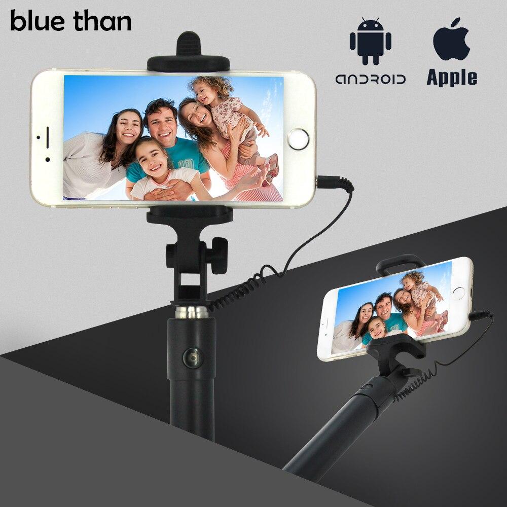 blue than universal self selfie stick monopod for phone 5c 6 andriod phone s4 s5 s 4 mini phones. Black Bedroom Furniture Sets. Home Design Ideas