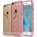 Luxo rhinestone caso do silicone para o iphone 6 6 s/6 6 s plus bling do Diamante Capinha Coque Macio TPU Tampa Traseira Para iPhone6 6 S 6 Mais