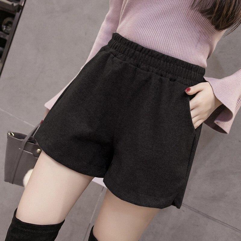Women Classic Basic Casual Wide Leg Short Fashion Loose Elastic Waist Shorts