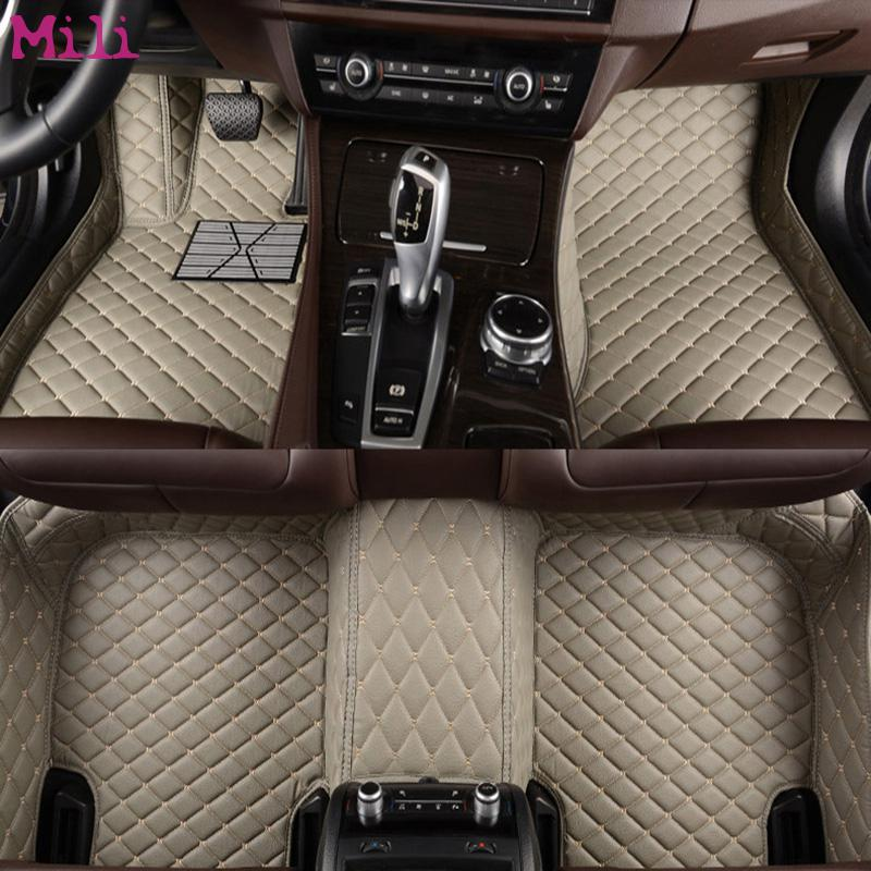 Mili tapis en cuir de voiture tapis de sol pour Tesla tous les modèles Modèle S Modèle X style de voiture accessoires automobile pied couvre pied tapis