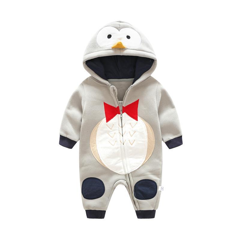 Autunno inverno Stile Tuta pinguino del modello della tigre del Cotone  Neonato Ragazze Dei Neonati Vestiti A Maniche Lunghe Con Cappuccio Abiti in  Autunno ... e8d9b5a8c30