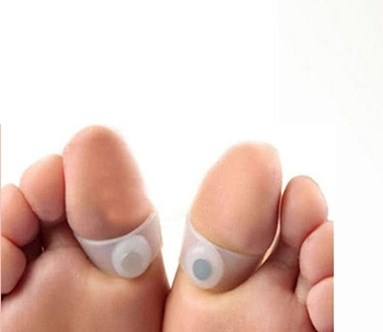 1pair Soft Silicone Toe Rings Slimming Foot Massage Magnetic Fat Burning For font b Weight b