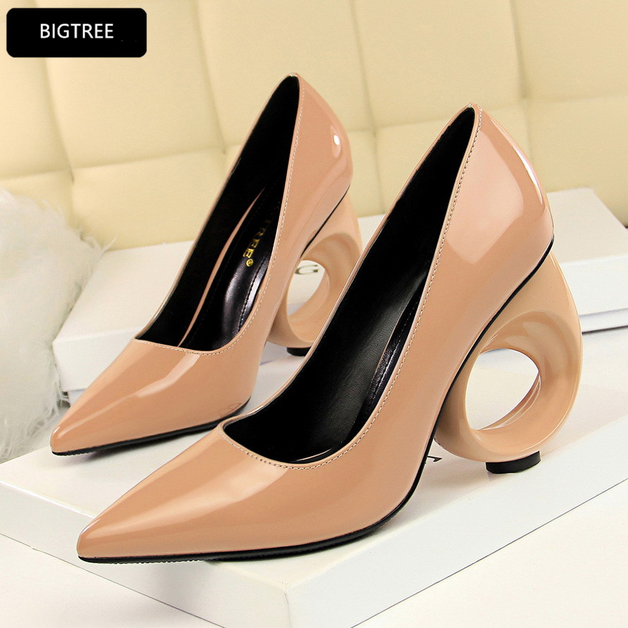 Wine Red White Sexy New High Heels Shoes Pointed Toe Patent Leather Shoes Women Pumps 2018 For Ladies Party Wedding Heel 10CM 2017 summer women pumps brand patent leather women s shoes fashion high heels open toe wedding shoes for ladies and party