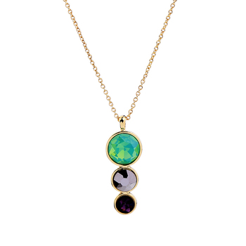 Green Geometric Glass Acrylic Pendant Necklace For Women 2017 Personalized Long Necklace Fashion Jewelry Accessories