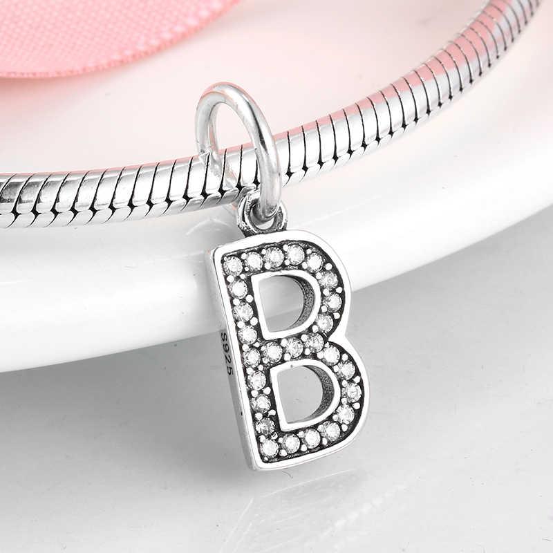 2019 جديد 925 فضة إلكتروني B سحر الخرز معلقة صالح الأصلي باندورا أساور للنساء صنع المجوهرات