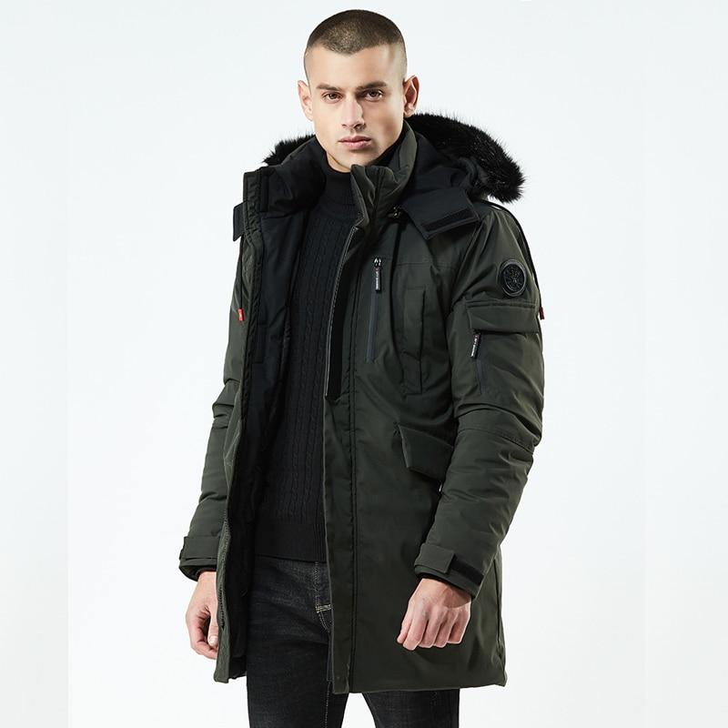 Mode D'hiver Parkas Hommes-30 Degrés Nouvelle Veste Manteaux Hommes Manteau Chaud Casual Parka Épaississement Manteau Hommes Pour L'hiver 8Y21F