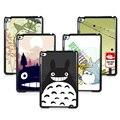 Moda totoro de dibujos animados de plástico duro caso de la cubierta para apple ipad mini 3 mini 2 mini 1 con película de pantalla