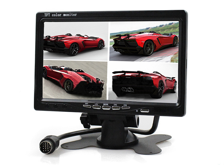 4 Way Input 9 inch TFT LCD Screen Car Monitor 4 Split Rear View Display for Rearview Reverse Camera Car TV Display For Truck 9 inch color tft lcd car monitor display reverse priority with 2 video input backup reverse camera free shipping usb sd