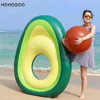 HOHOGOO 1set 160x125cm Inflatable Avocado Swimming Ring Summer Swimming Pool Hawaiian Party Buoy Toy