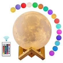 Луна свет 3D печать Луна Глобус лампа, 3D светящийся луна лампа с подставкой, Луна луна лампа ночник для дома Спальня Декор дети